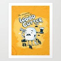 The WoodCutter Art Print