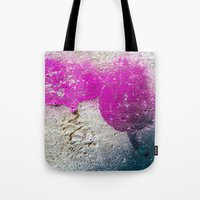 Magenta rounded drips Tote Bag