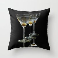 Three Martini's And Thre… Throw Pillow