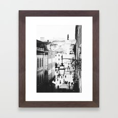 B&W Lisbon Framed Art Print