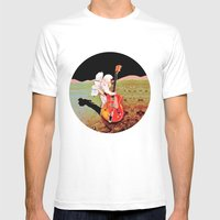 One Massive Strum Mens Fitted Tee White SMALL