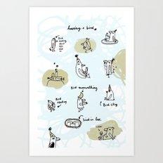 having a bird Art Print
