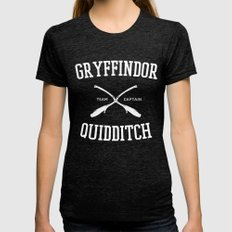 Hogwarts Quidditch Team: Gryffindor Womens Fitted Tee Tri-Black SMALL