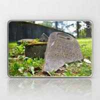 Shattered gravestone Laptop & iPad Skin