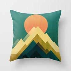 Gold Peak Throw Pillow