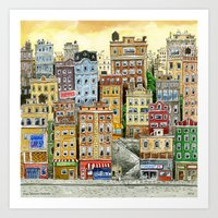 Painted Houses Art Print