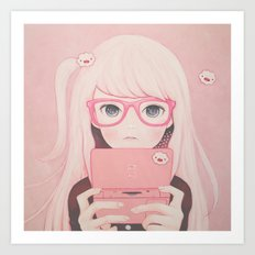 「Gamegirl Girl」  Art Print