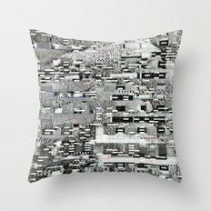 Highly Resolved Ghost (P/D3 Glitch Collage Studies) Throw Pillow