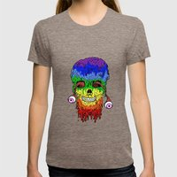 Melty face Womens Fitted Tee Tri-Coffee SMALL