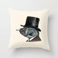 Mr. Fish Throw Pillow