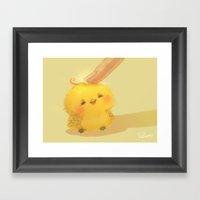 Scritch, A Little Yellow… Framed Art Print