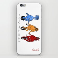 unite! and ride unicycles with unicorns with unibrows! iPhone & iPod Skin