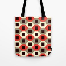Hexagon pattern (red) Tote Bag