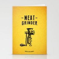 Meat Grinder Stationery Cards