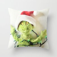 Don't Be A Grinch Throw Pillow