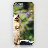 iPhone & iPod Case featuring Angry Squirrel Has A Friend by Jennifer Rogers