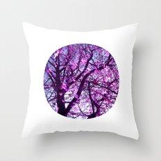 purple tree XXXII Throw Pillow