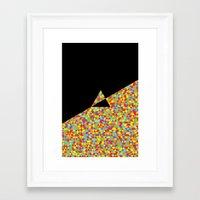 The Dark Side Of The Moo… Framed Art Print