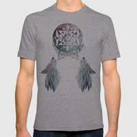Wolf Moon Mens Fitted Tee Athletic Grey SMALL