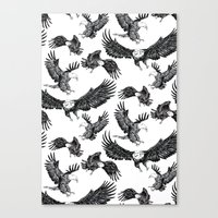 Eagles Pattern Canvas Print