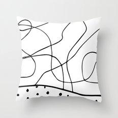 lines & dots Throw Pillow