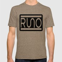 RUNO Bordered Design Mens Fitted Tee Tri-Coffee SMALL