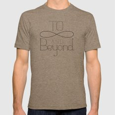 To Infinity... Mens Fitted Tee Tri-Coffee SMALL