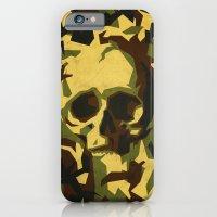 Camouflage skull iPhone 6 Slim Case