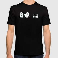 Bowling Ghost SMALL Black Mens Fitted Tee