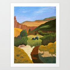 Fresh Trail, painting Art Print
