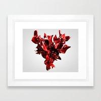 Twist Of Heart - Red Framed Art Print