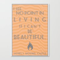 Howl's Moving Castle Bea… Canvas Print