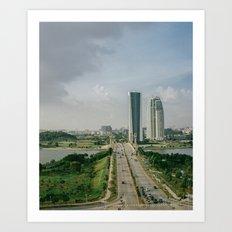 two roads that didn't diverge Art Print