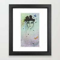 When the last one falls Framed Art Print