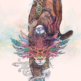 Art Print - Journeying Spirit (Mountain Lion) - Mat Miller