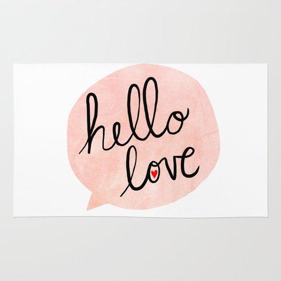 Hello Love Area & Throw Rug