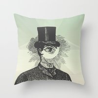 Eyeliner Throw Pillow