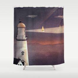 Shower Curtain - Sea of Light - Schwebewesen • Romina Lutz
