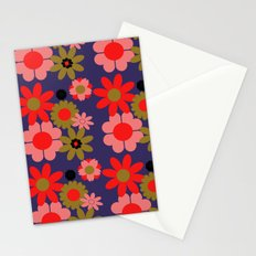 Groovy baby floral Stationery Cards