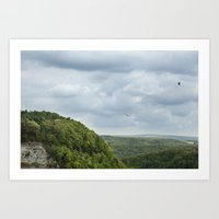 Soaring Through The Stor… Art Print