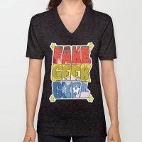 FAKE GEEK GIRL Unisex V-Neck