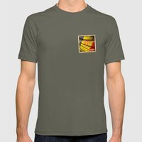 Grunge sticker of Andorra flag Mens Fitted Tee Lieutenant SMALL