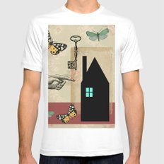 The House With The Turquoise Light On No.2 SMALL Mens Fitted Tee White