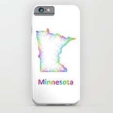 Rainbow Minnesota map iPhone 6 Slim Case