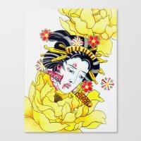 Japanese Namakubi Flowers Canvas Print