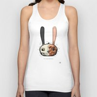 Visible Floating BunnyHead Unisex Tank Top