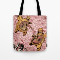 One Thousand Pardons: TummyBuddies: Psychic Warriors Connected by their Bellies Tote Bag