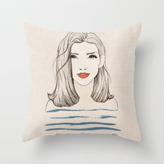 Sea Girl Throw Pillow