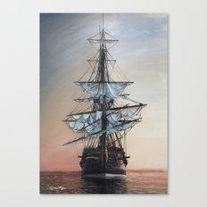 Sunset Arrival Canvas Print