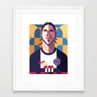 ZI10 | Les Rouge-et-Bleu Framed Art Print